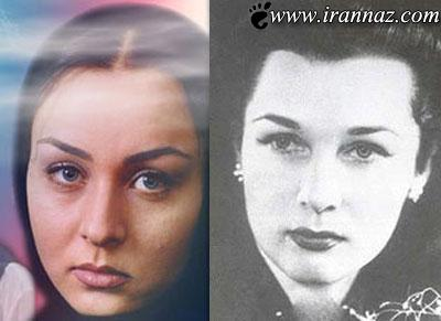 تصاویری از گریم حدیث فولادوند در نقش همسر شاه