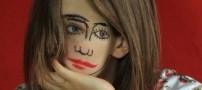 نقاشی روی صورت که با چشم شما بازی میکند!