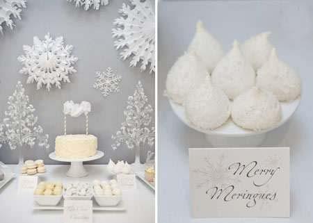 مدل های جالب برای تزئین مراسم تولد با برف (عکس)