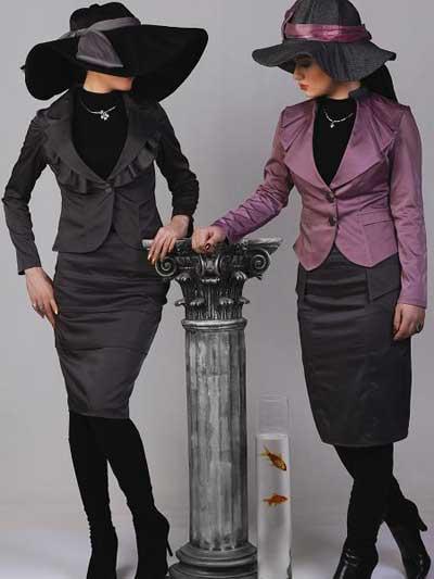 مدل هایی از شیک ترین کت و دامن برای شیک پوشان