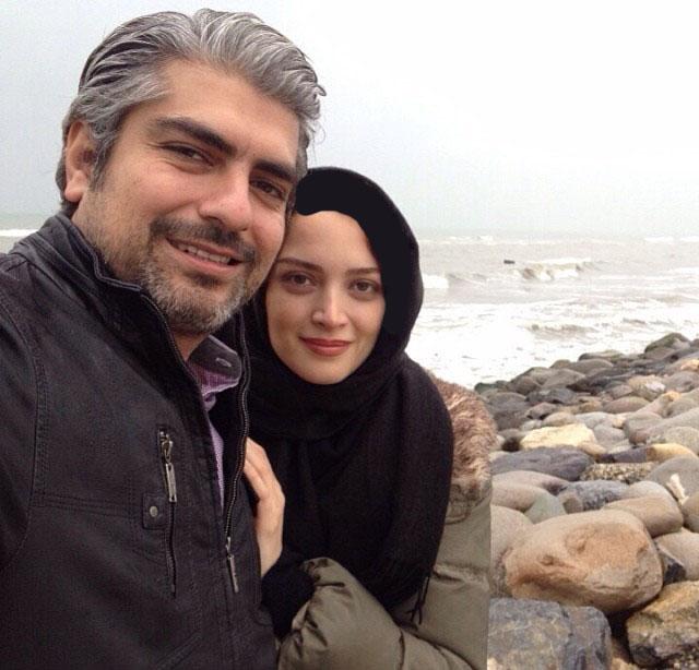 عکس یادگاری از زوج هنرمند و سرشناس در کنار دریا