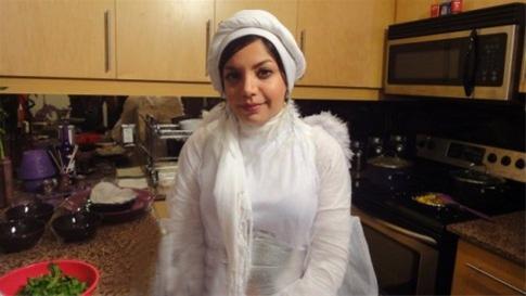 حضور باحجاب خانمی دیگر در شبکه ماهواره ای من و تو