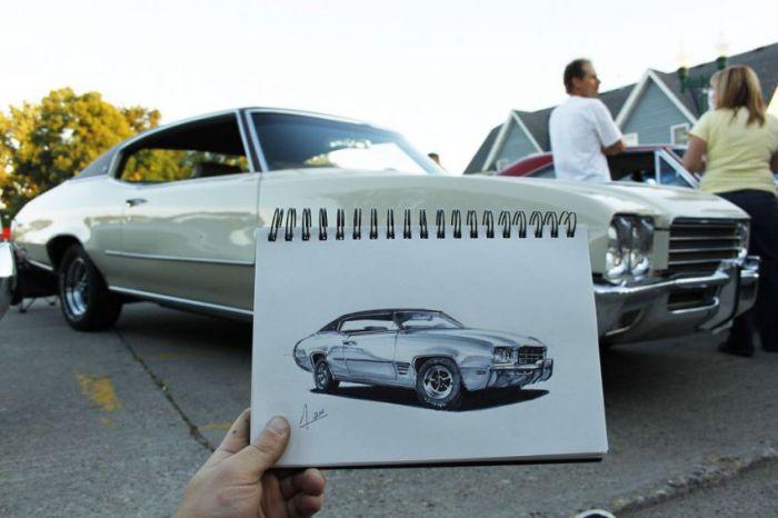 طراحی های شگفت انگیز از ماشین روی کاغذ (عکس)