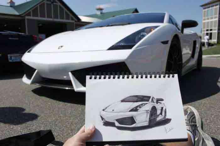 آموزش نقاشی رونالدو طراحی های شگفت انگیز از ماشین روی کاغذ (عکس)