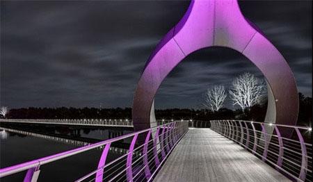 تصاویری از بزرگترین و طولانی ترین پل عابر پیاده در اروپا