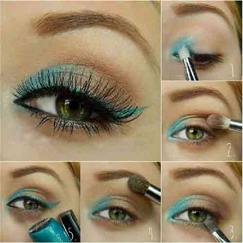 آموزش تصویری 5 مدل سایه چشم بسیار زیبا و شیک