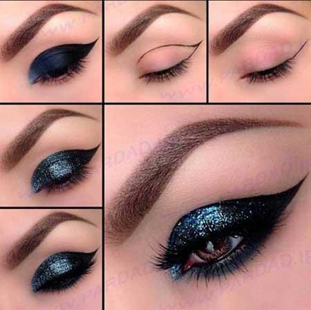 مدل آرایش چشم و ترکیبات سایه برای خود آرایی