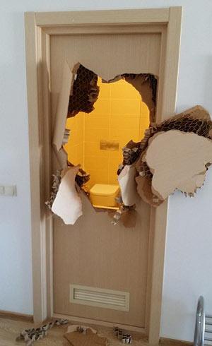سرویس بهداشتی که دردسر ساز شد! + تصویر
