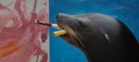 تصاویری جالب از 5 حیوان در حال نقاشی کشیدن