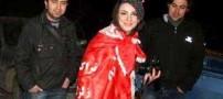 پوشش جالب دختران تبریزی در جشن قهرمانی تراکتور