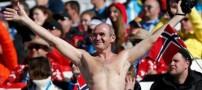 تماشاگر المپیک زمستانی با ظاهری عجیب! (عکس)