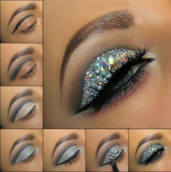 آموزش تصویری آرایش چشم براق برای عید نوروز