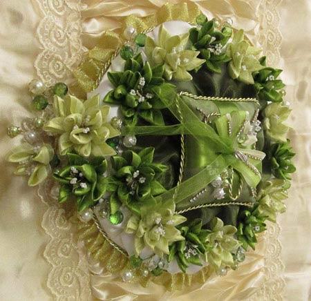 تزئین بسیار شیک جای حلقه عروس و داماد (عکس)