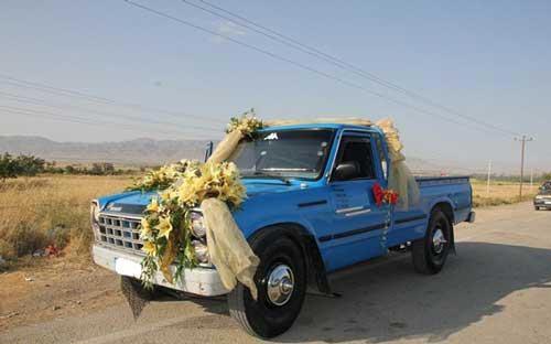ماشین عروس بسیار جالب و دیدنی یک زوج (عکس)