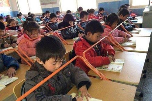 روش جالب برای درس خواندن کودکان چینی (عکس)