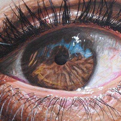 نقاشي جالب و طبيعي از چشم انسان