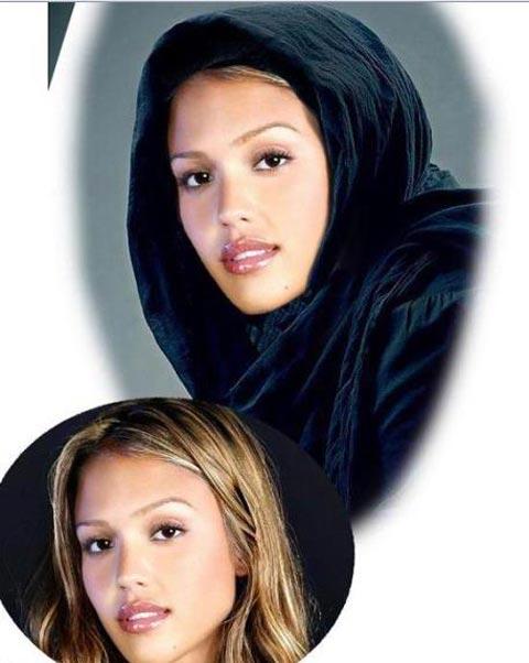 تصاویری از زیباترین زنان هالیوود باحجاب