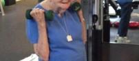 پیرزن 97 ساله، قهرمان پرورش اندام!! (عکس)