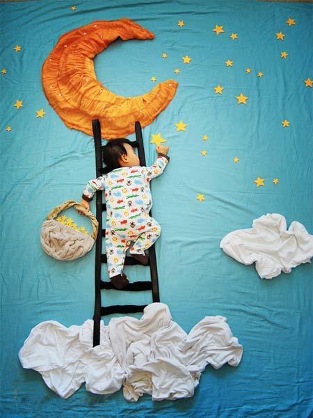 خلاقیت های بسیار زیبا در خواب کودکان (عکس)