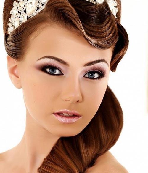 متدهای آرایش صورت و موی عروس (عکس)
