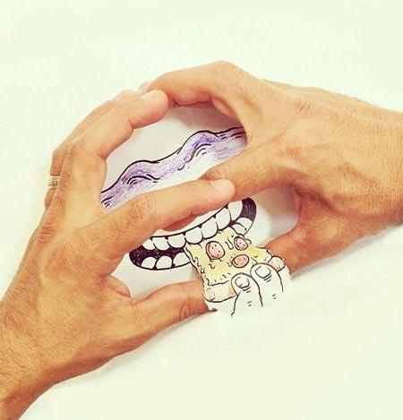 نقاشی های ترکیبی زیبا و بامزه (عکس)