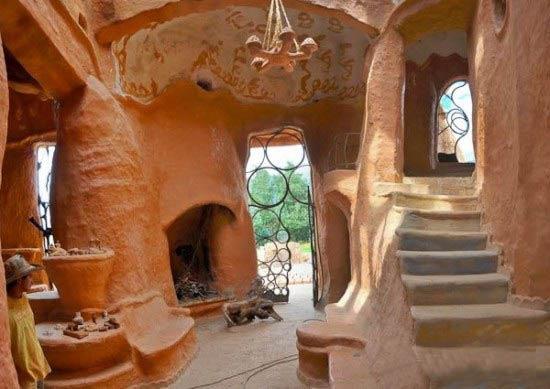 تصاویری از یک خانه زیبا ساخته شده از سفال