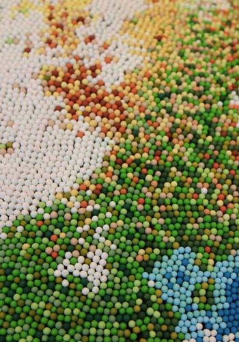 ساخت کره زمین با چوب کبریت (عکس)