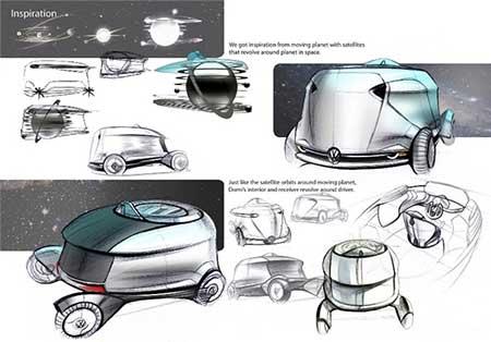 ساخت خودروی هوشمند دارای اتاق خواب (عکس)