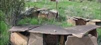 تصاویری جالب از یک قبرستان بسیار قدیمی در ایران