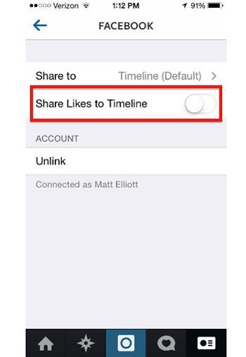 راهی برای جلوگیری از فرستادن لایک های اینستاگرام به فیسبوک