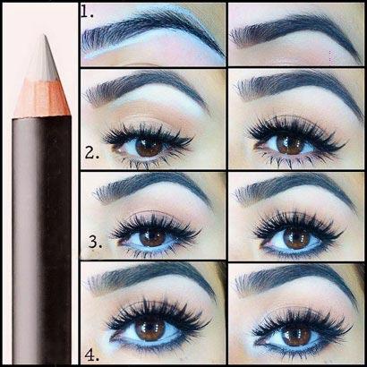 استفاده از مداد سفید در آرایش چشم (عکس)