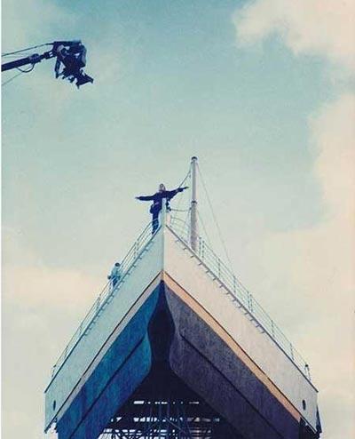 تصاویری از پشت صحنه فیلم تایتانیک
