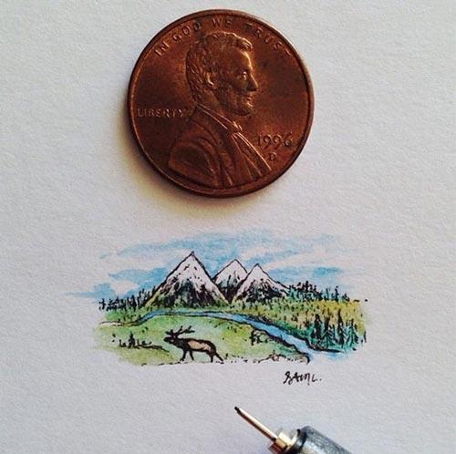 این نقاشی های کوچک و زیبا را مشاهده کنید