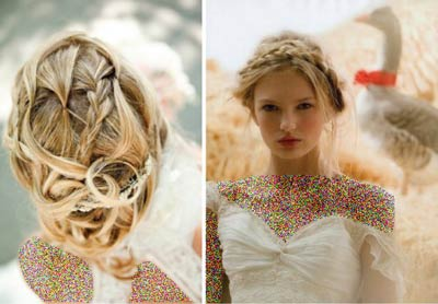مدل موهای زیبا و شنیون عروس (عکس)