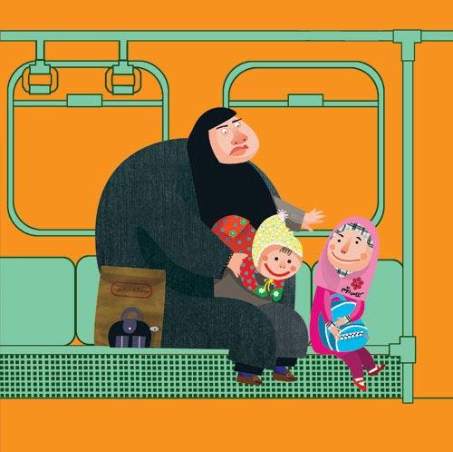 عکس های دیدنی دختران ایرانی در مترو تهران