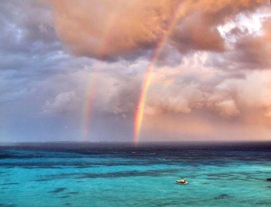 تصاویری از تشکیل رنگین کمان رویایی