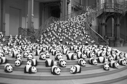 کار شگفت انگیز هنرمند فرانسوی برای پانداها (عکس)