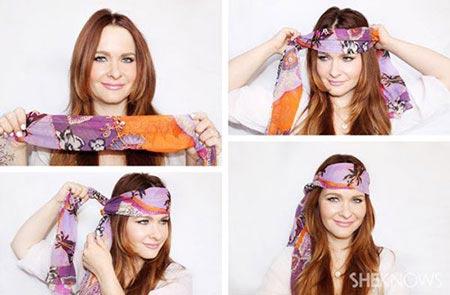 آموزش تصویری بستن روسری به روش های زیبا