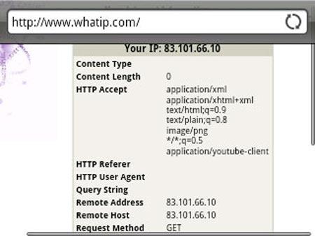 نحوه پیدا کردن آدرس IP تلفن هوشمند