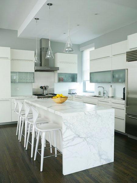 طراحی آشپزخانه با سنگ مرمر و گرانیت (عکس)