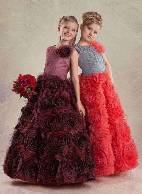 مدل لباس های مجلسی شیک برای دختر بچه ها (عکس)