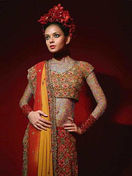 مدل جدید و بسیار شیک لباس هندی زنانه (عکس)