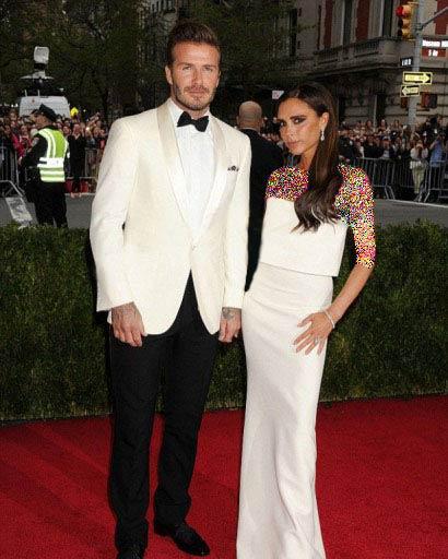 تصاویری از ویکتوریا و دیوید بکام در Met Ball Gala