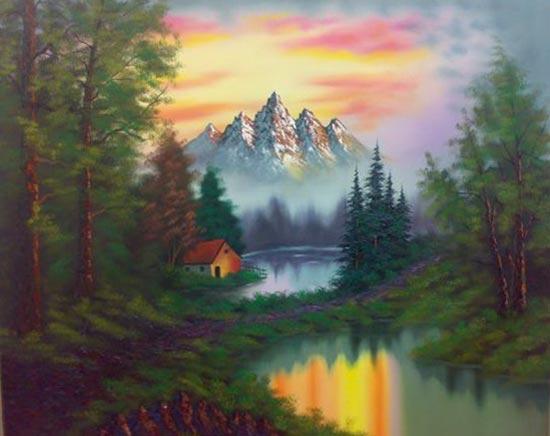 تصاویری از تابلو های نقاشی رنگ و روغن زیبا