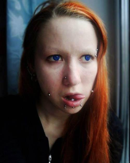 ظاهر عجیب و ترسناک این خانم را ببینید (عکس)