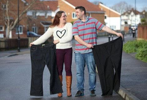 اراده قوی این زن و شوهر برای لاغر شدن (عکس)