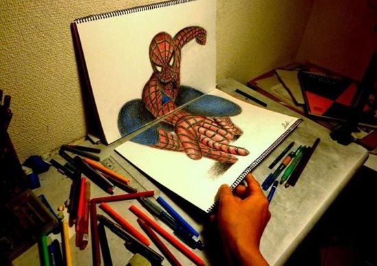 عکس هایی از نقاشی های سه بعدی بسیار جالب