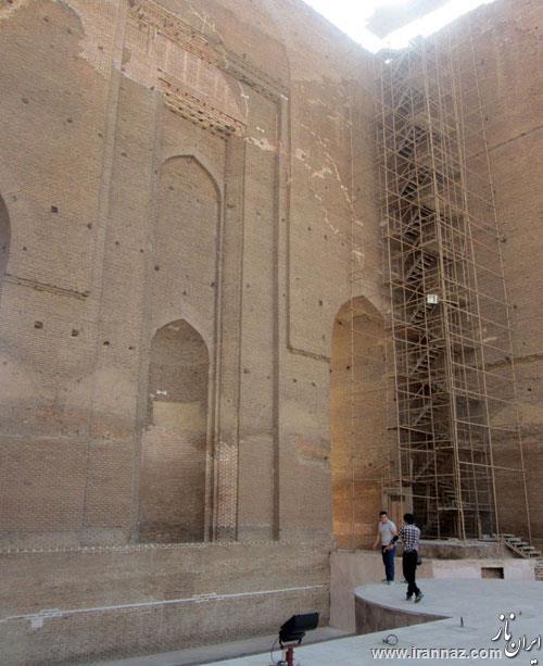 عکس های ارگ تبریز بلندترین طاق آجری جهان