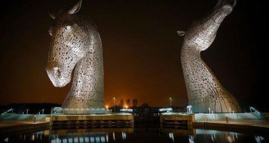ساخت جالب اسب 9 متری در اسکاتلند (عکس)