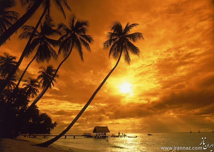 عکس هایی از چشم اندازهای زیبای غروب خورشید